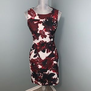 Calvin Klein floral sheath Dress size 4